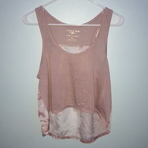 American Eagle Outfitters Tops - AE Cropped blush tank top